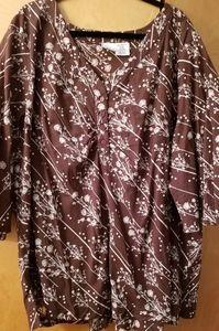 Brown/tan blouse